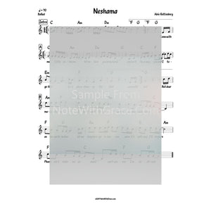Neshomole Lead Sheet (Abie Rotenberg) Album: Journeys 2 Released: 2010-Sheet music-NoteWithGrace.com