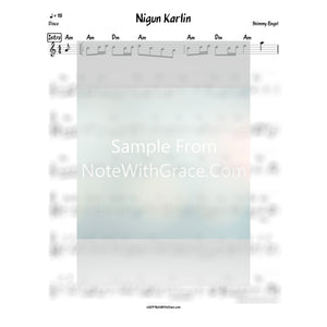 Nigun Karlin Lead Sheet (Shimmy Engel) Album: Sheinis-Sheet music-NoteWithGrace.com