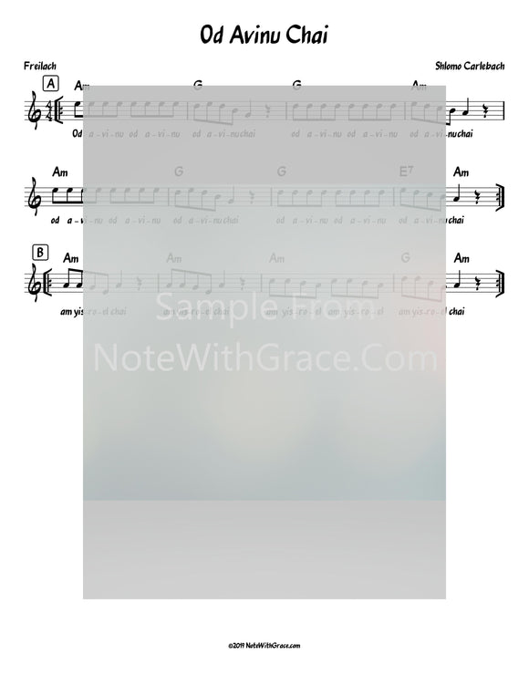 Oid Avinu Chai Lead Sheet (Shlomo Carlebach)-Sheet music-NoteWithGrace.com