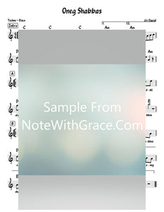 Oneg Shabbos - עונג שבת Lead Sheet (Uri Davidi) Album: Muchanim 2019-Sheet music-NoteWithGrace.com