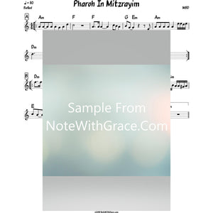 Pharoh In Mitzrayim Lead Sheet (MBD) Album: The Yiddish Collection 2007-Sheet music-NoteWithGrace.com