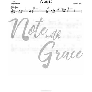 Pischi Li Lead Sheet (Simchah Leiner) Album: Pischi Li-Sheet music-NoteWithGrace.com