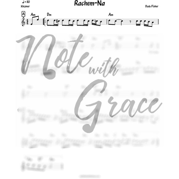 Rachem-Na Lead Sheet (Dudu Fischer) Album: Mamenyu-Sheet music-NoteWithGrace.com