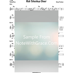 Reb Yehoshua Omer Lead Sheet (Benny Friedman)-Sheet music-NoteWithGrace.com