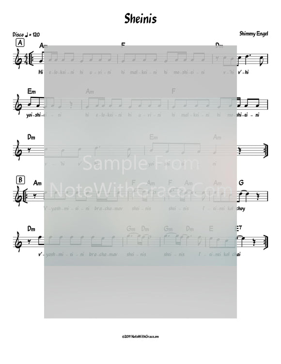 Sheinis Lead Sheet (Shimmy Engel) Album: Sheinis Released 2018-Sheet music-NoteWithGrace.com