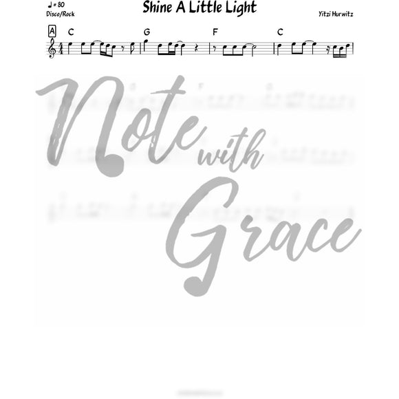 Shine A Little Light Lead Sheet (Yitzi Hurwitz)-Sheet music-NoteWithGrace.com
