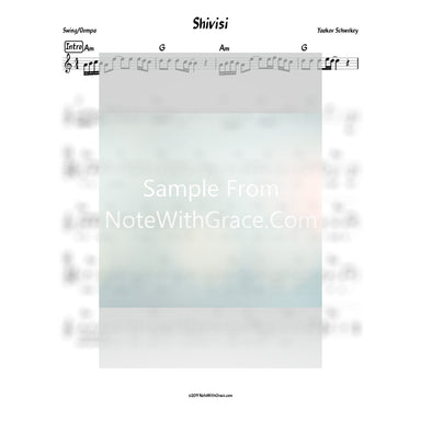 Shivisi Lead Sheet (Yaakov Schwekey) Album: Musica 2018-Sheet music-NoteWithGrace.com