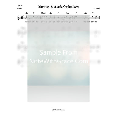 Shomer Yisrael - Protection Lead Sheet (G'vanim) Album: Singing Before The Gates 2017-Sheet music-NoteWithGrace.com