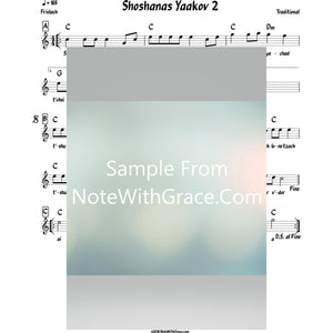 Shoshanas Yaakov 2 Lead Sheet (Traditional) Purim-Sheet music-NoteWithGrace.com