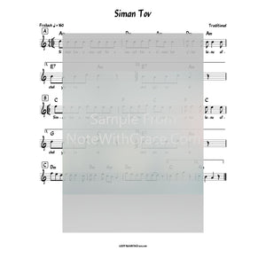Siman Tov Lead Sheet (Traditional)-Sheet music-NoteWithGrace.com