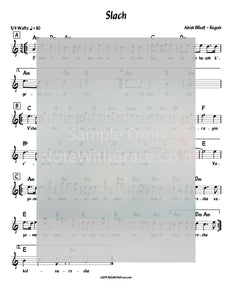 S'lach - סלח Lead Sheet (Abish Brodt) Album: Regesh Gold-Sheet music-NoteWithGrace.com