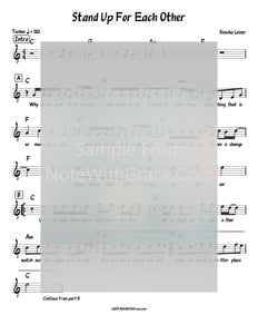 Stand Up For Each Other Lead Sheet (Simchah Leiner) Official Music Video-Sheet music-NoteWithGrace.com