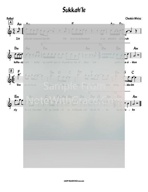 Sukkah'le Lead Sheet (Cheskie Weiss) Album: Lev el Haneshama 2019-Sheet music-NoteWithGrace.com
