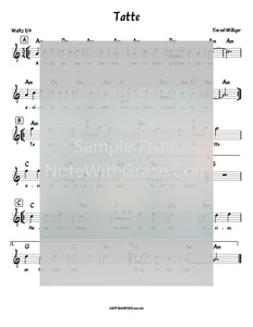 Tatte Lead Sheet (Yisroel Williger) The Voice of a New Generation - 1995-Sheet music-NoteWithGrace.com