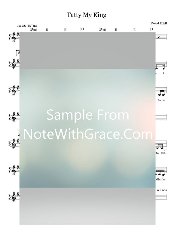 Tatty My King Lead Sheet (Waterbury Mesivta) Album Single Released 2018-Sheet music-NoteWithGrace.com