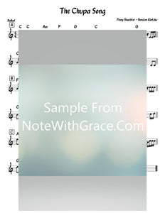 The Chuppah Song Lead Sheet (Pinny Schachter - Benzion Klatzko) Official Music Video-Sheet music-NoteWithGrace.com