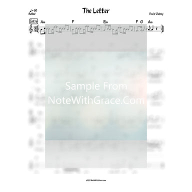 The Letter - Daven For You Lead Sheet (Dovid Gabay) Album: Omar Dovid-Sheet music-NoteWithGrace.com