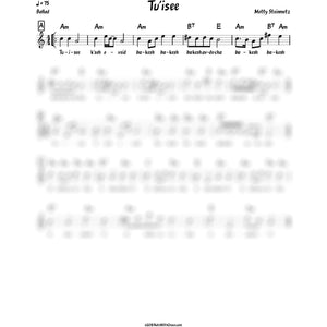 Tu'isee Lead Sheet (Motty Steinmetz) Skulen-Sheet music-NoteWithGrace.com