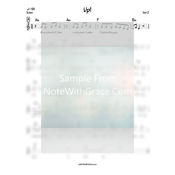 Up! Lead Sheet (Yoni Z) Album: Up!-Sheet music-NoteWithGrace.com