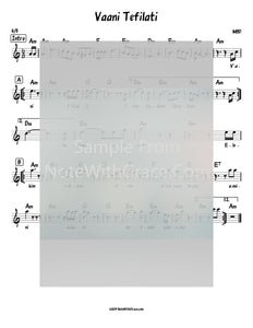 Vaani Tefilati Lead Sheet (MBD) Album: Neshama 1981-Sheet music-NoteWithGrace.com