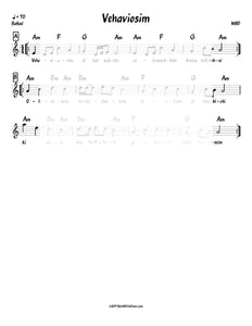 V'haviosim El Har Kodshi Lead Sheet (MBD) Album: Mbd and Friends 1993-Sheet music-NoteWithGrace.com