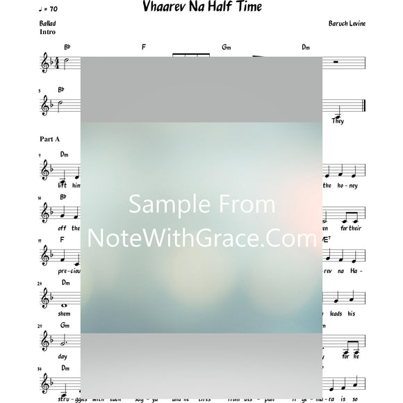 V'haarev Na Lead Sheet (Simchah Leiner/Boruch Levine)-Sheet music-NoteWithGrace.com