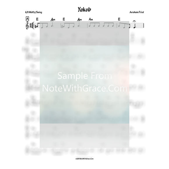 Yakob Lead Sheet (Avrohom Fried) Album: Yiddish Gems Vol. 1 2010-Sheet music-NoteWithGrace.com