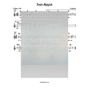 Yosis Alayich Lead Sheet (Traditional)-Sheet music-NoteWithGrace.com