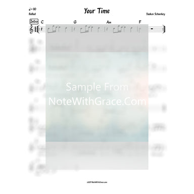 Your Time Lead Sheet (Yaakov Schwekey) Album: Musica-Sheet music-NoteWithGrace.com