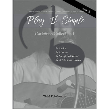 Play It Simple Carlebach Collection Book 1-Music Book-NoteWithGrace.com