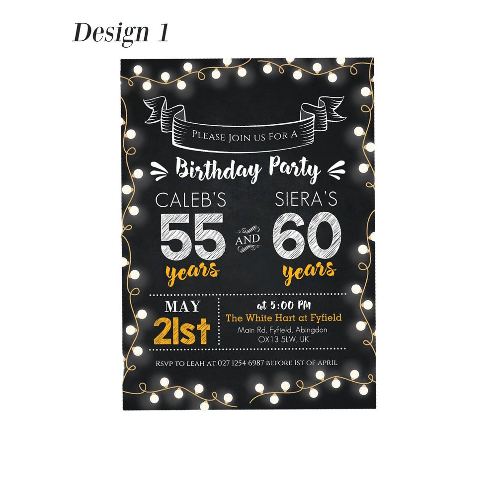 Personalised Adult Birthday Party Invitations