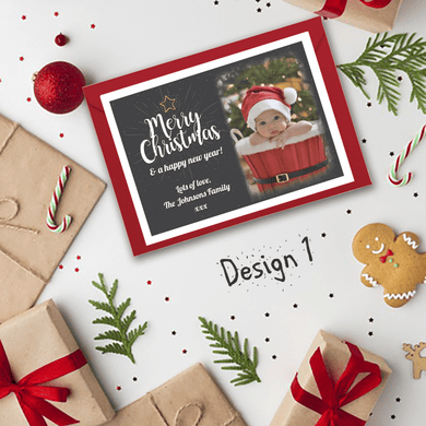 Aspire Designs Christmas Cards | Personalised Photo Xmas Cards | Festive Postcards 10 / Yes / Design 1