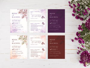 Aspire Designs Eucalyptus Wedding Invitation Set | Personalised Day/Evening Invitation, RSVP & Detail Cards