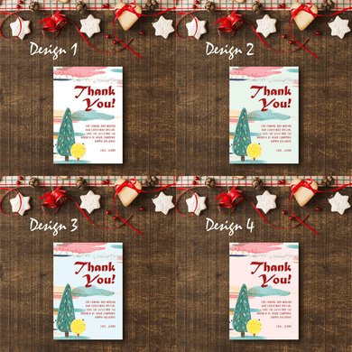 Aspire Designs Kid's Drawing Theme | Personalised A5 Size Christmas Party Thank You Cards