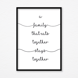 Aspire Designs Motivational 'Family Stays Together' Quotes Print | Birthday Anniversary Gift
