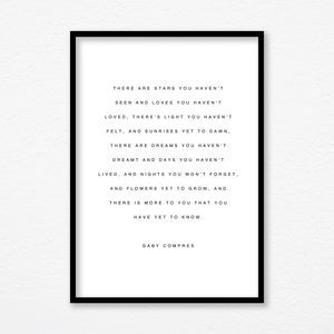Aspire Designs Motivational 'These are Stars' Quotes Print | Her His Birthday Anniversary Gift
