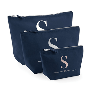 Aspire Designs Personalised Accessory Bag With Name | Initial Name | Small, Medium, Large