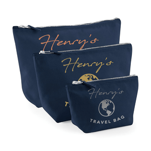Aspire Designs Personalised Accessory Bag With Name | Travel Theme | Small, Medium, Large