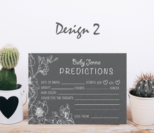 Load image into Gallery viewer, Aspire Designs Personalised Baby Boy or Girl Shower Prediction Cards | Neutral Colors 10 / Yes / Design 2
