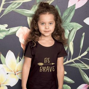 Aspire Designs Personalised Be Brave Kids T-shirt, Gift Idea Tee Top for Kids - Boys or Girls