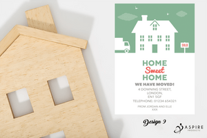 Aspire Designs Personalised Beautiful New Home Change of Address Cards