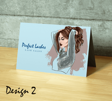 Load image into Gallery viewer, Aspire Designs Personalised Beauty Business Lash After Care Cards | A5 Folded Cards 1 / No / Yes