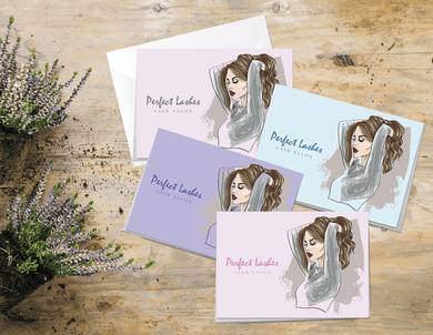 Aspire Designs Personalised Beauty Business Lash After Care Cards | A5 Folded Cards 1 / No / Yes