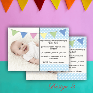 Aspire Designs Personalised Boys Photo Christening | Baptism | Naming Day Invites 10 / Yes