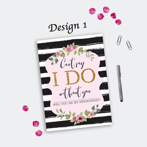 Aspire Designs Personalised Bridesmaid Invitations | Will You Be My Bridesmaid 10 / Yes / Design 1