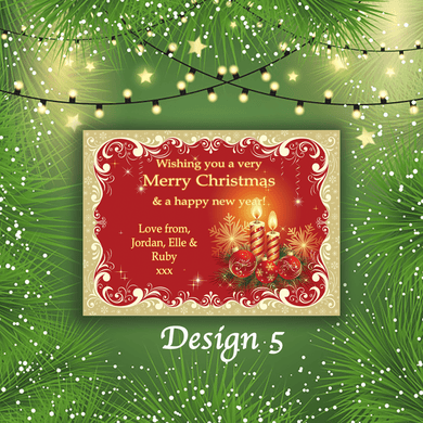 Aspire Designs Personalised Candle Merry Christmas Cards Xmas Postcards 10 / Yes