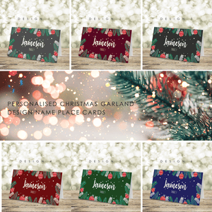 Aspire Designs Personalised Chirstmas Theme Table Name Place Cards for parties and Conference