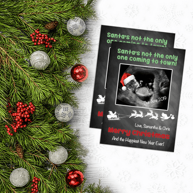 Aspire Designs Personalised Christmas Baby Pregnancy Announcement Cards 10 / Yes