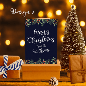 Aspire Designs Personalised Christmas Folded Greeting Cards in A6 | Christmas Wish Folded Cards in A6