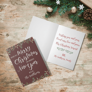 Aspire Designs Personalised Christmas Folded Greeting Cards in A6 | Christmas Xmas Greeting Card